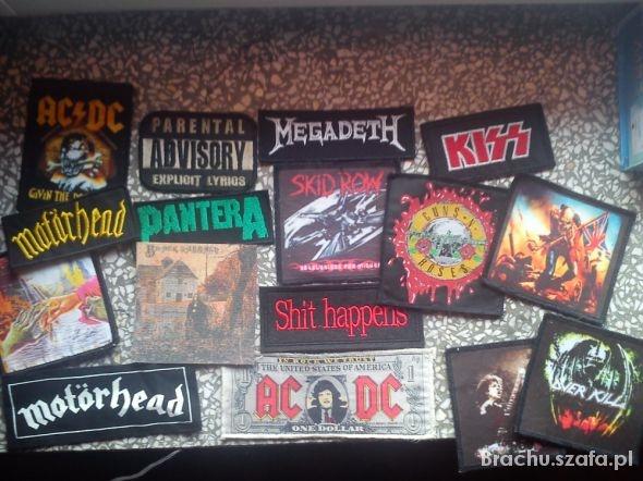 Naszywki rock metal