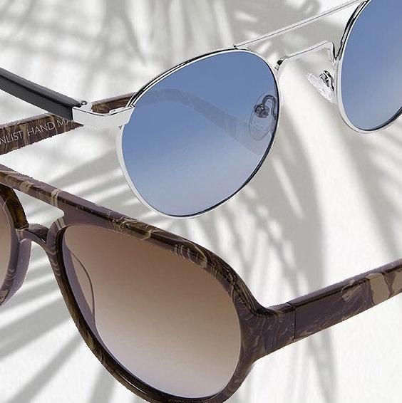 ENLIST okulary przeciwsłoneczne beżowe designerskie okazja