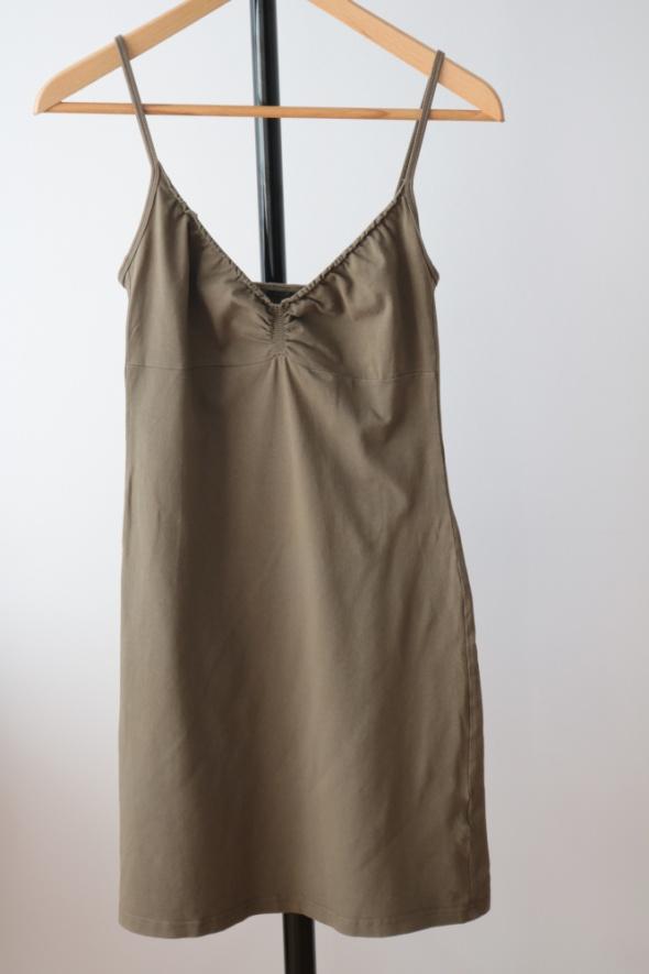 Letnia sukienka khaki