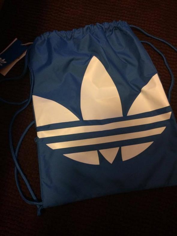 Adidas original nowy niebieski worek torba eko...