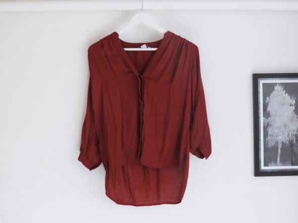 Miedzianobrązowa koszula luźny krój