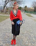 a8e36745 Czerwona spódnica stylizacje nowości 2019 - Szafa.pl