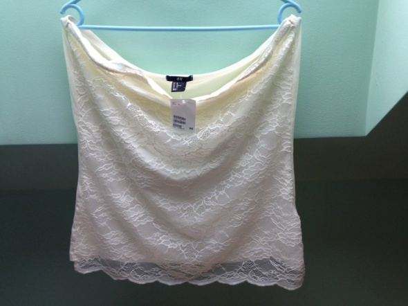 H&M top koronkowy XL