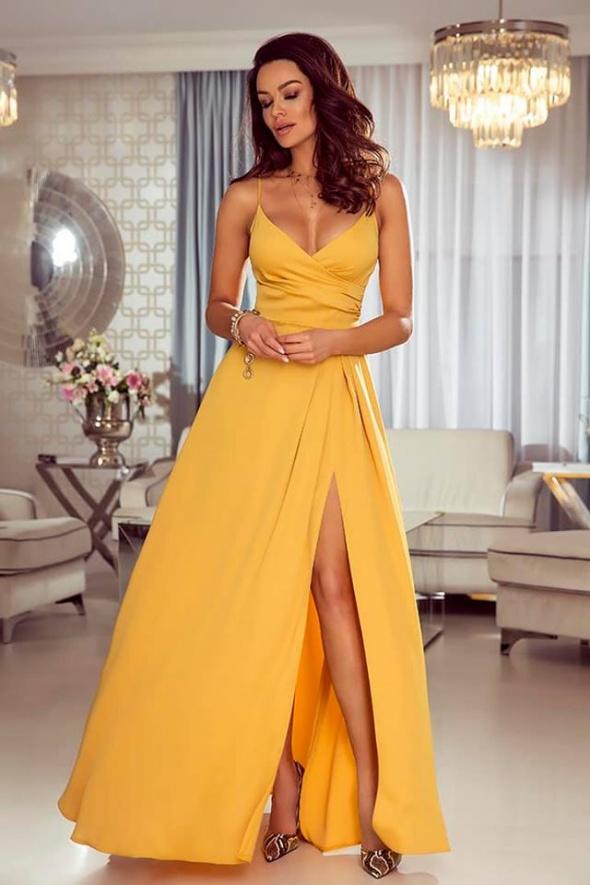 a7bf895b46 Zółta suknia wieczorowa w Suknie i sukienki - Szafa.pl