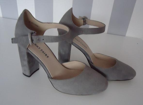 buty na słupku szare CCC 38