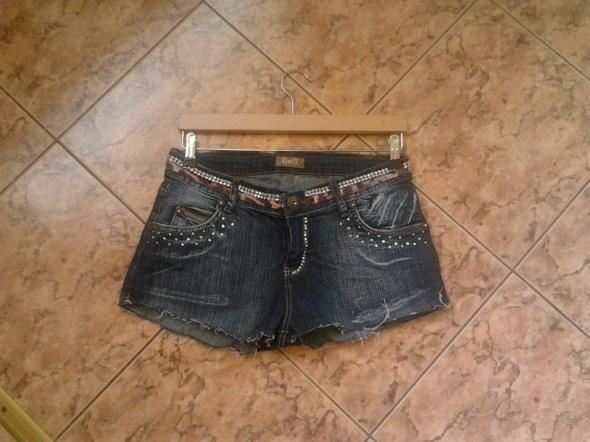 Spodenki postrzępione zdobione jeansowe jeans D&G...