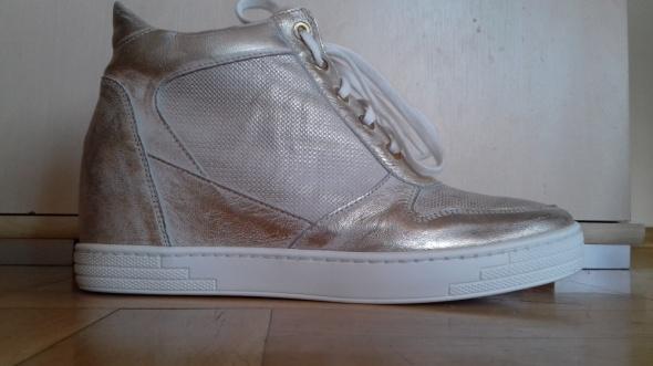 Sneakersy skórzane Gold Arturo Viccii