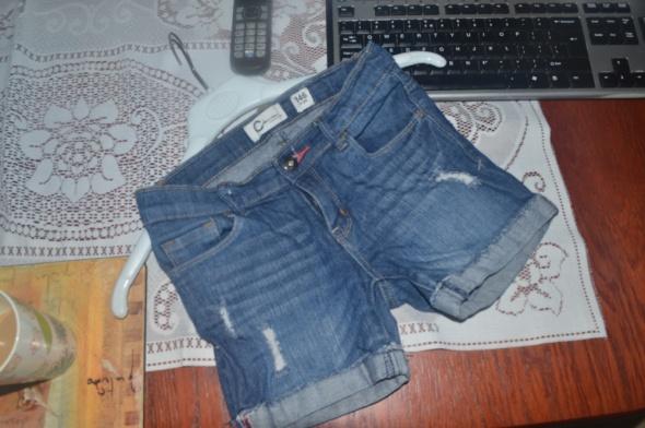 Spodnie i spodenki Cubus Spodenki jeansowe 140cm 146cm 9 10 11lat jNowe