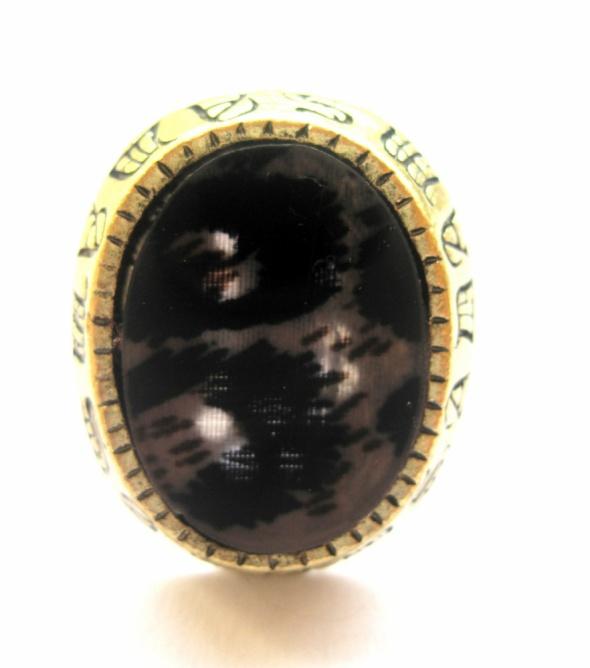 pierścionek cętki aztecki