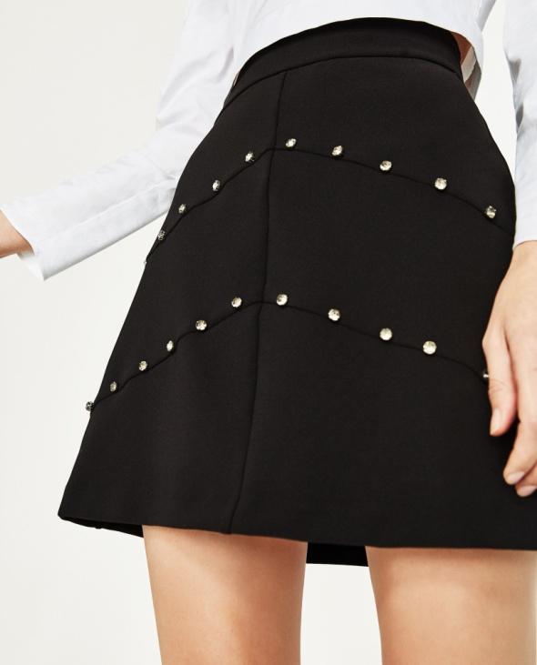 Nowa spódnica Zara perły koraliki rozmiar XS