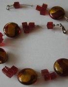 Korale czerwone szkło weneckie