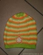 czapka dziewczęca 3 do 7 lat