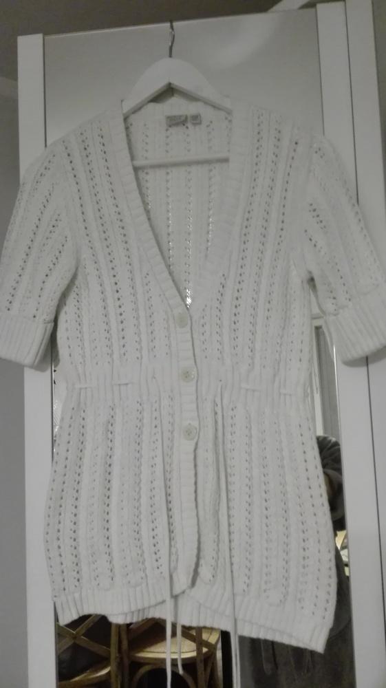 Sweter ażurowy rozpinany Esprit...
