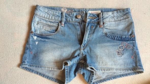 jeansowe shorty...