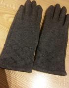 szare rękawiczki z materiału rozmiar S...