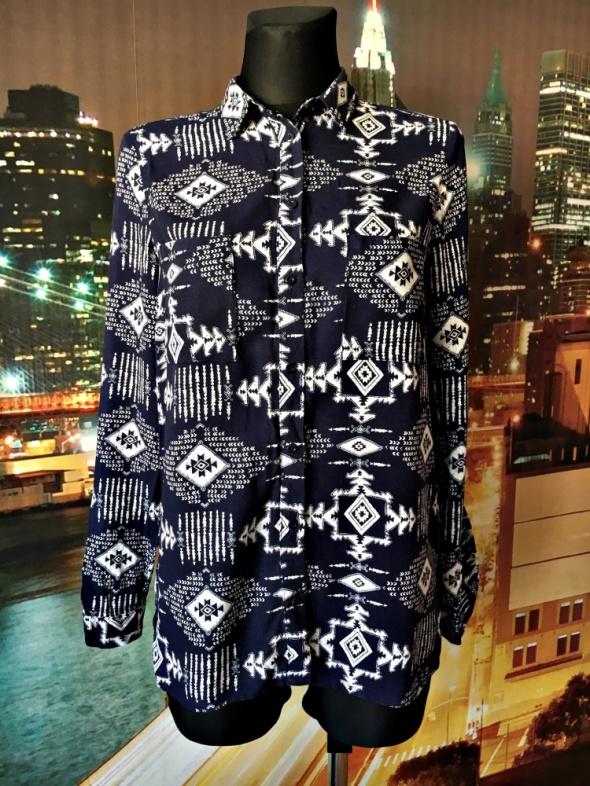 Koszule h&m bluzka koszulowa aztecki wzór casual 34 36