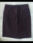 brązowa klasyczna spódnica ołówkowa GAP 38 40 M L
