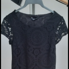 Czarna sukienka koronka New Look