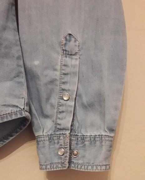 Sinsay Koszula dżinsowa cienka bawełniana na zatrzaski taliowana