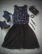 super sukienka w motyle ATMOSPHERE...