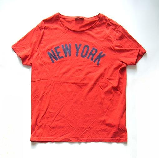 Czerwona koszulka z napisem New York rozmiar M koszulka bawełninana sportowa