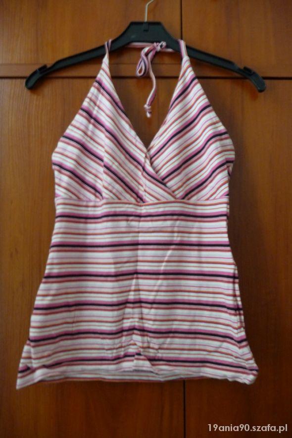 Bluzki Bluzka w paski wiązana na szyi