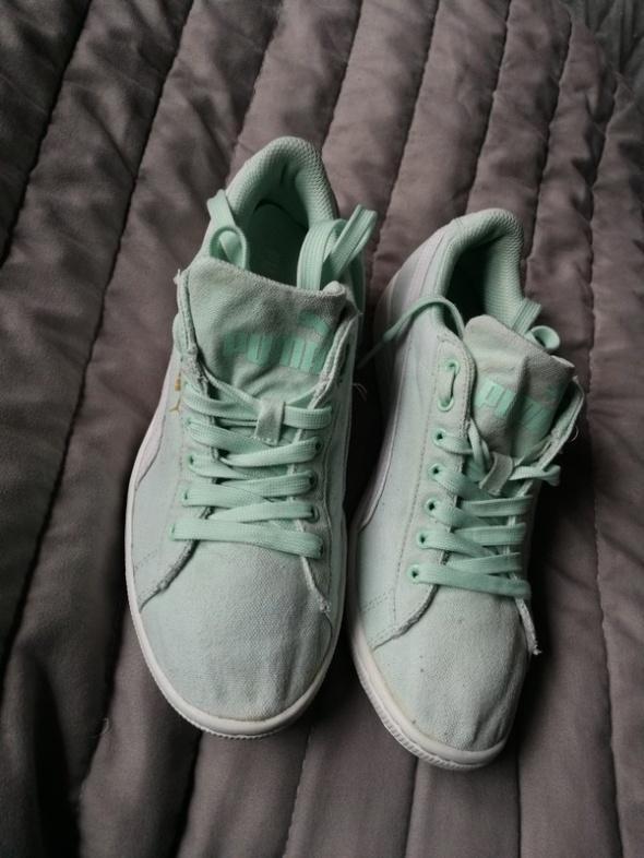 Miętowe buty Puma