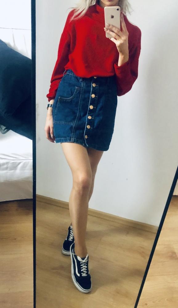 Mini jeansowa spódnica