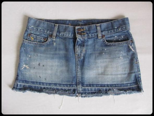 Abercrombie i Fitch spódniczka mini jeansowa L 40 przetarcia...