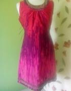 kolorowa sukienka koraliki