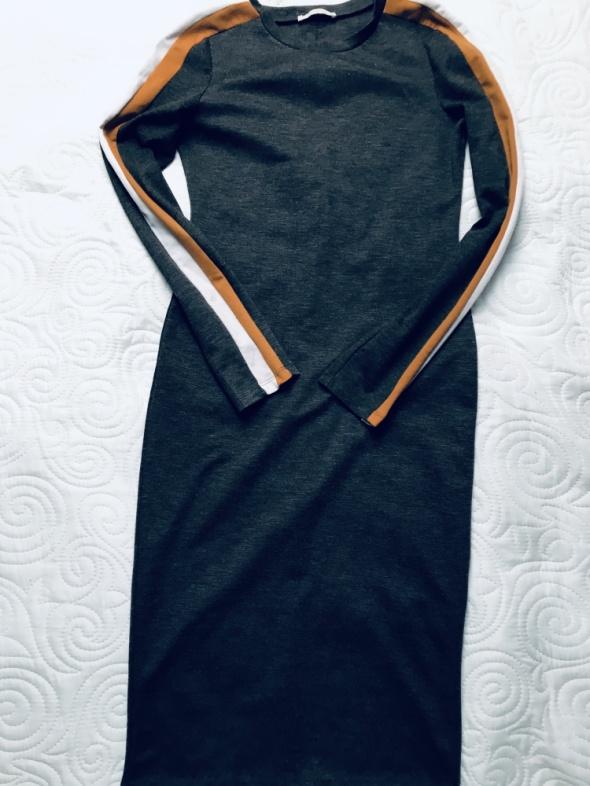 Sukienka dzianinowa z lampasami Zara 38