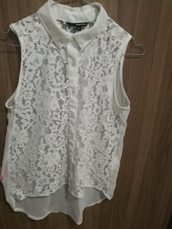 biała koronkowa koszula Tally Weijl S