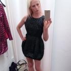 czarna sukienka bombka