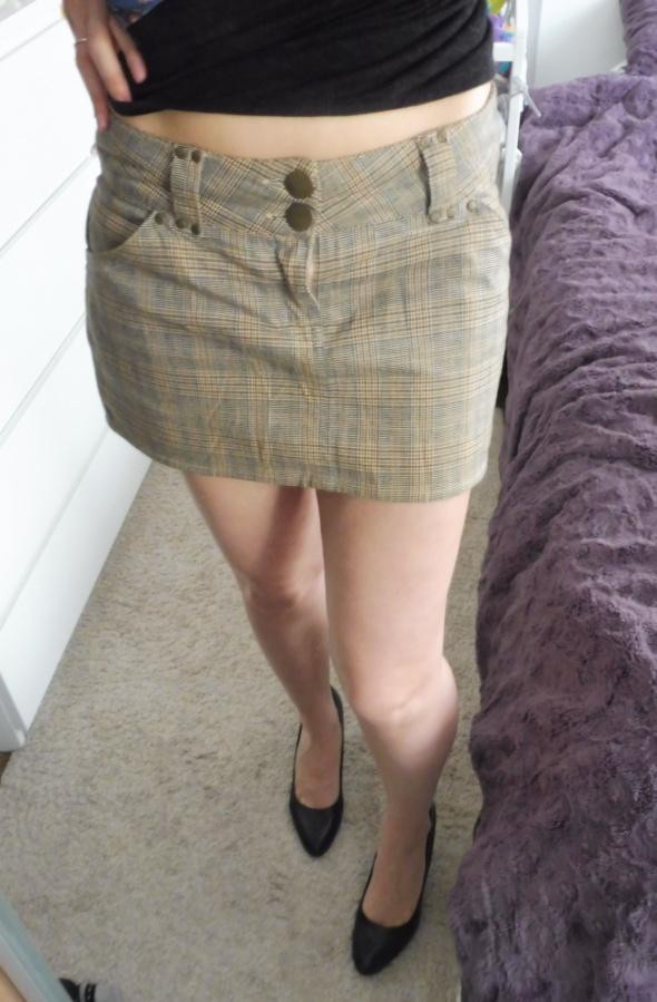 Mini spódniczka w kratkę vintage...