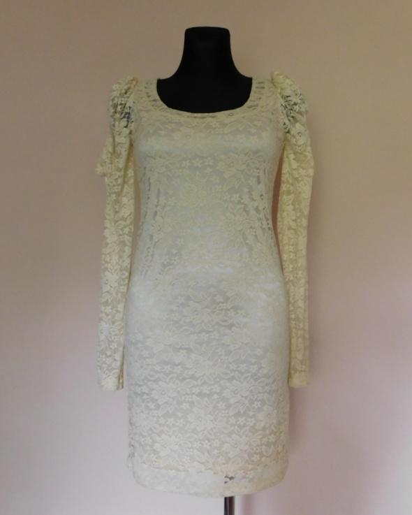 ICHI sukienka ecru koronka mini 38...