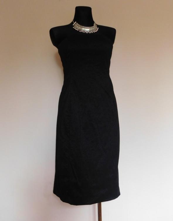 Oasis czarna sukienka błyszcząca 38 40
