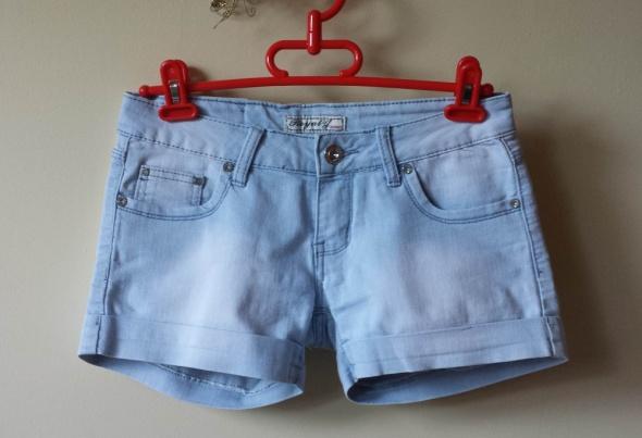Szorty spodenki jeansowe S M dżety kamyczki