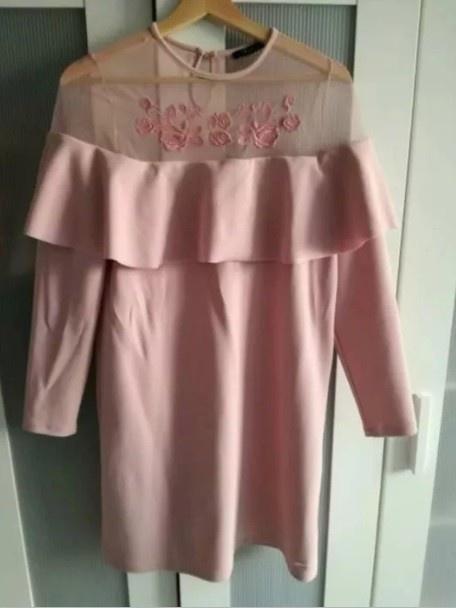 nowa sukienka mohito hiszpanka pudrowy róz M