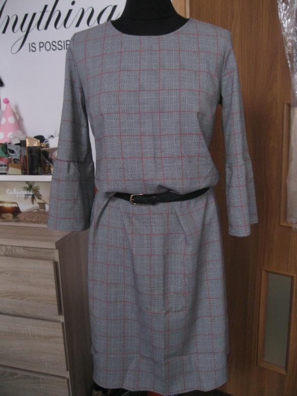 nowa sukienka szara w krate S