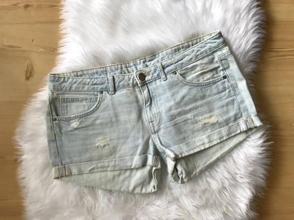 Szorty H&M przetarcia jeans