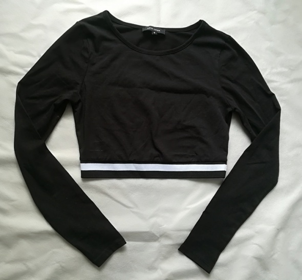 New Look czarny crop top S