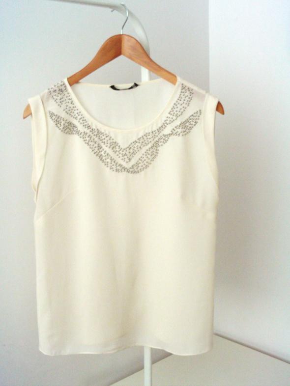 Kremowa bluzka na lato Oasis...