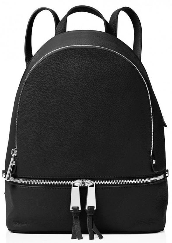 Czarny klasyczny plecak z suwakiem