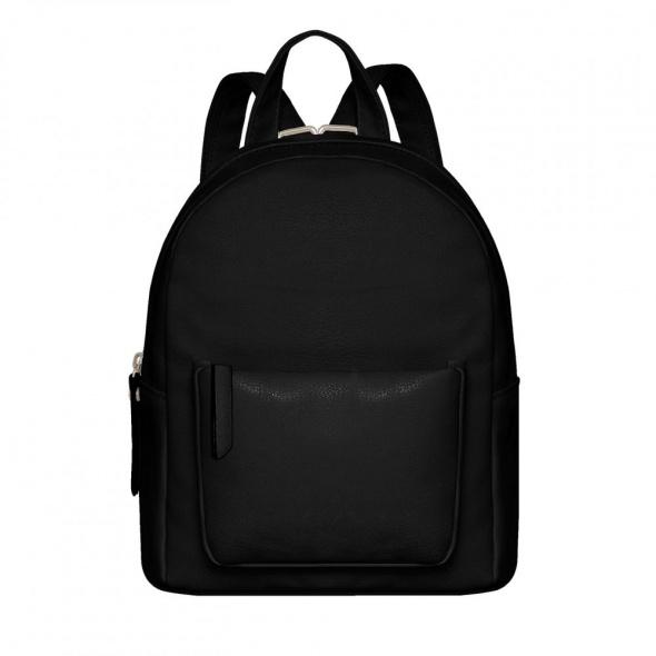 Czarny klasyczny plecak minimalizm blogerski