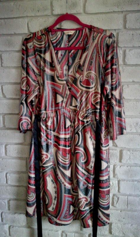 Kolorowa mieniąca się sukienka 44 46 48