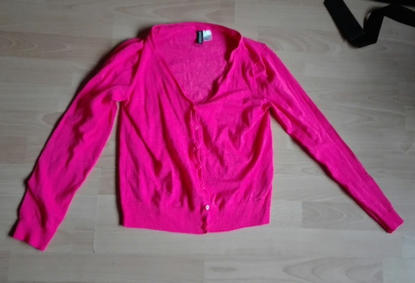 Jaskrawa różowa bluzka h&m