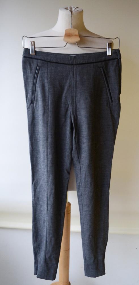 Spodnie H&M Szare 36 S Do Pracy 7 8 Wstawki