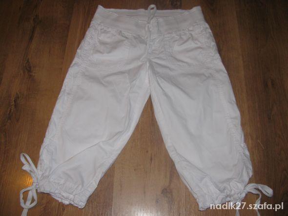 Spodnie 3 4 rybaczki Cubus białe 36