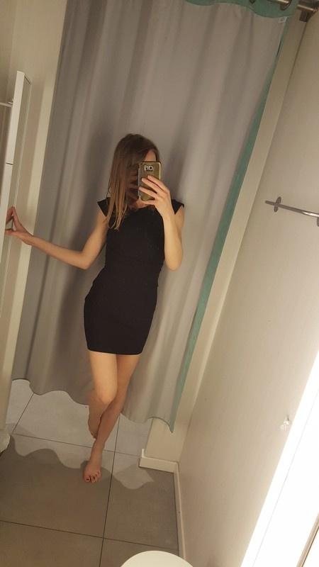 Nowa czarna sukienka top shop s