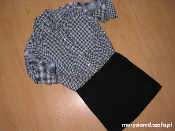 Suknie i sukienki 2w1 sukienka Bik bok koszula ze spódniczką S M